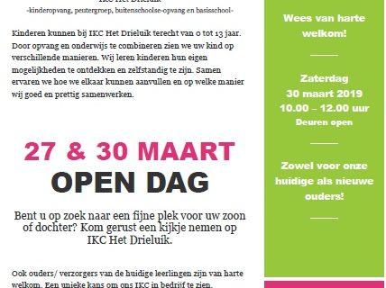 27 & 30 maart: Open Dag